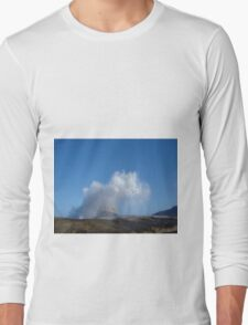 Tasmanian Blowhole - Blowing into the Blue Long Sleeve T-Shirt