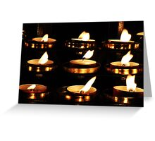Durham Cathedral Candles Greeting Card