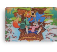 Disney Splash Mountain Bear Fox Rabbit Song of the South Canvas Print