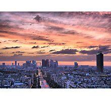 Red Sky Over Paris - Landscape Photographic Print