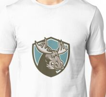 Angry Moose Mascot Shield Unisex T-Shirt