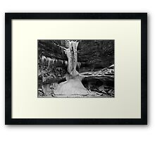 Ice In The Canyon 2 Framed Print