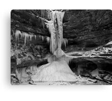 Ice In The Canyon 2 Canvas Print