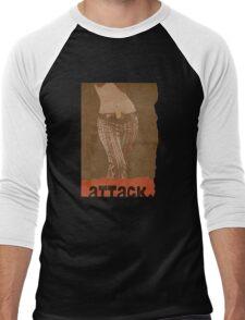 attack. Men's Baseball ¾ T-Shirt