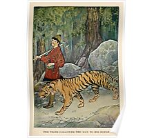 The Wonder Garden by Frances Jenkins Olcott art Milo Winter 1919 0223 The Tiger Followed the Man to His House Poster
