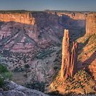 Spider Rock - Canyon de Chelly National Monument by Ted Lansing