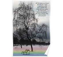 California Dreamin' on a Winter's Day Poster