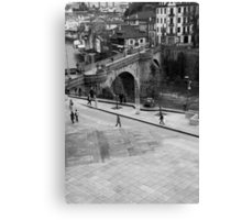 Plaza s. gonçalo cathedral and bridge Canvas Print