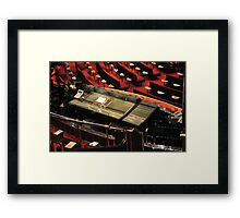 The Console, Controls At You Finger Tips  Framed Print