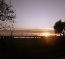 Sunset over Lytchett Bay (Hamworthy Park) Dorset by Songwriter