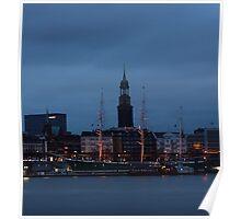 Blue hour in Hamburg - II Poster