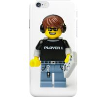 Player 1 Gamer Kid Minifig iPhone Case/Skin
