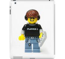 Player 1 Gamer Kid Minifig iPad Case/Skin