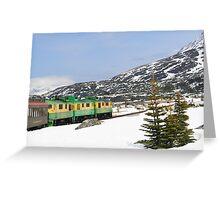 A Snowy Train Ride Greeting Card