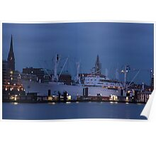 Blue hour in Hamburg - III Poster