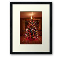 Wild Colorful Christmas Tree Light Spikes Abstract Framed Print