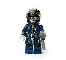 Zombie Cop Minifig by jarodface