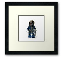 Zombie Cop Minifig Framed Print