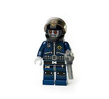 Zombie Cop Minifig Photographic Print
