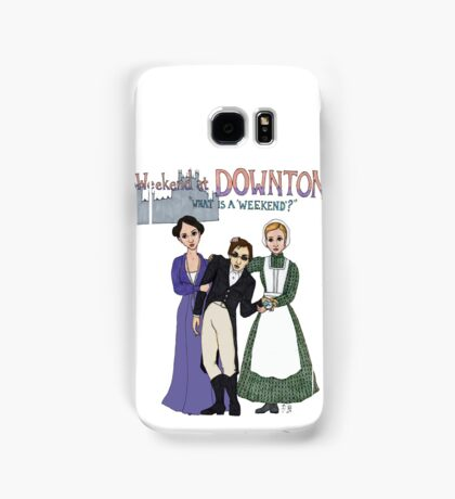 Weekend at Downton Samsung Galaxy Case/Skin