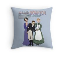 Weekend at Downton Throw Pillow