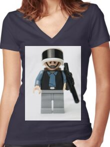 Rebel Trooper from the Wars in the Star Women's Fitted V-Neck T-Shirt