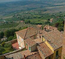 The Rooftops of Montepulciano by Bob  Perkoski