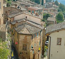 A Street in Montepulciano by Bob  Perkoski