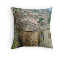 A Street in Montepulciano Throw Pillow