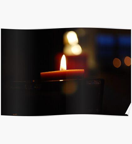 Bokeh Candles Poster