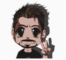 Tony stark chibi Kids Clothes