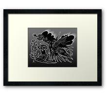 hummingbird crow Framed Print