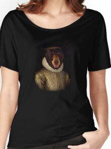 The Noble Bear - A fun image of a Bear in Noble Attire Women's Relaxed Fit T-Shirt