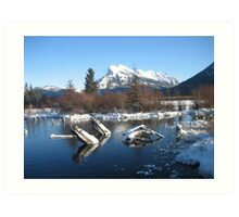 View Of Mount Rundle From Vermillion Lakes Art Print