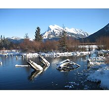 View Of Mount Rundle From Vermillion Lakes Photographic Print