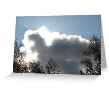 Squirrel-ly Dinosaur-y cloud with a silver lining. Greeting Card