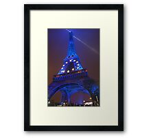 The Eiffel Tower in Blue, Paris, France  Framed Print