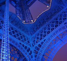 The Eiffel Tower in Blue, Paris, France  by Anina Arnott