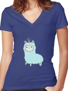 Alpaca Women's Fitted V-Neck T-Shirt