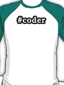 Coder - Hashtag - Black & White T-Shirt