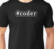 Coder - Hashtag - Black & White Unisex T-Shirt