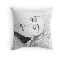 Under The Blue Line Throw Pillow