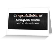 NCP Forum Feature Banner 1 Greeting Card