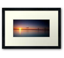 Sunrise over the Second Severn Crossing Framed Print