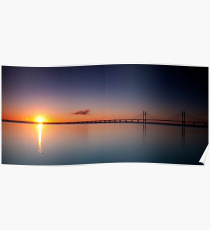 Sunrise over the Second Severn Crossing Poster