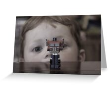 Watching Optimus Greeting Card