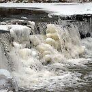 Frozen Waterfall by debbiedoda