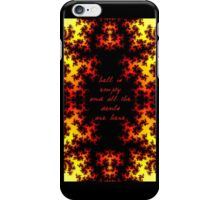 Hell is Empty Fractal iPhone Case/Skin