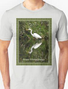 Great White Heron Hunting at Homosassa Springs T-Shirt