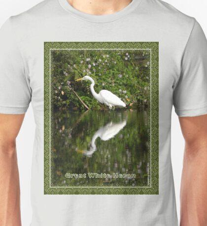 Great White Heron Hunting at Homosassa Springs Unisex T-Shirt